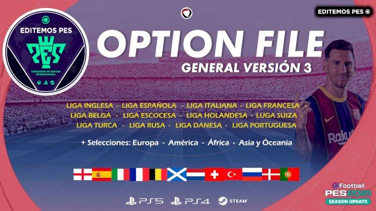 eFootball PES 2021 - YA DISPONIBLE NUESTRO OPTION FILE GENERAL V3