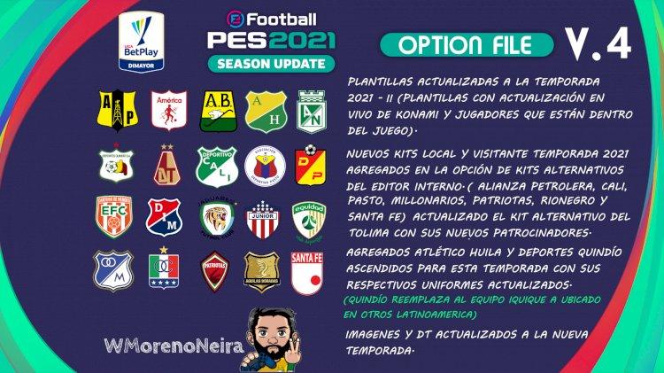 [NUEVO] Option File Liga Betplay 2021 - II   eFootball PES 2021