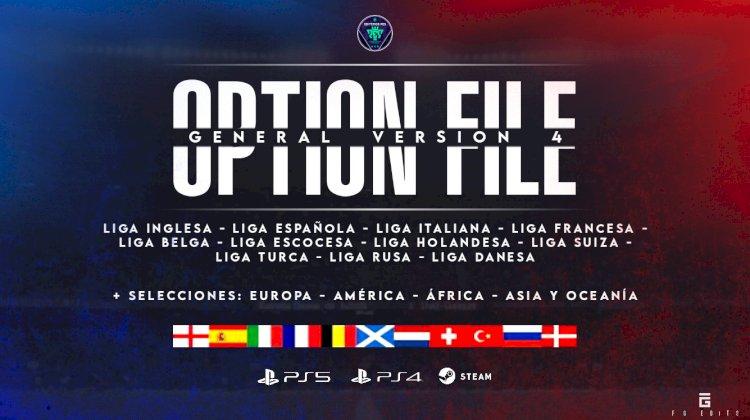 [NUEVO] Option File General V4 [GRATIS]   eFootball PES 2021