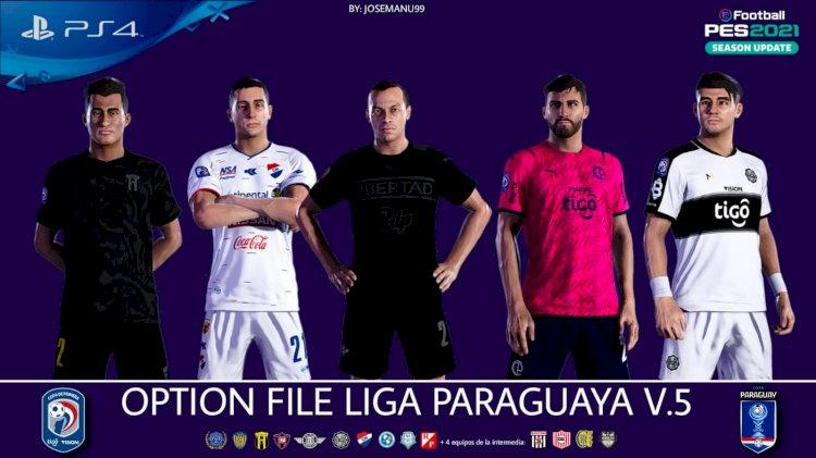 [NUEVO] Option File Liga Paraguaya V5  [GRATIS]   eFootball PES 2021